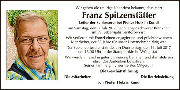 Franz Spitzenstätter
