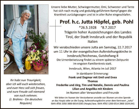 Prof. h.c. Jutta Höpfel