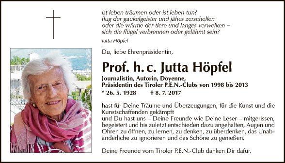 Prof. Jutta Höpfel