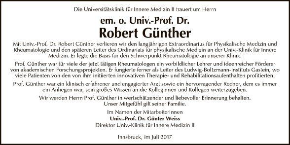 Univ.-Prof.Dr. Robert Günther