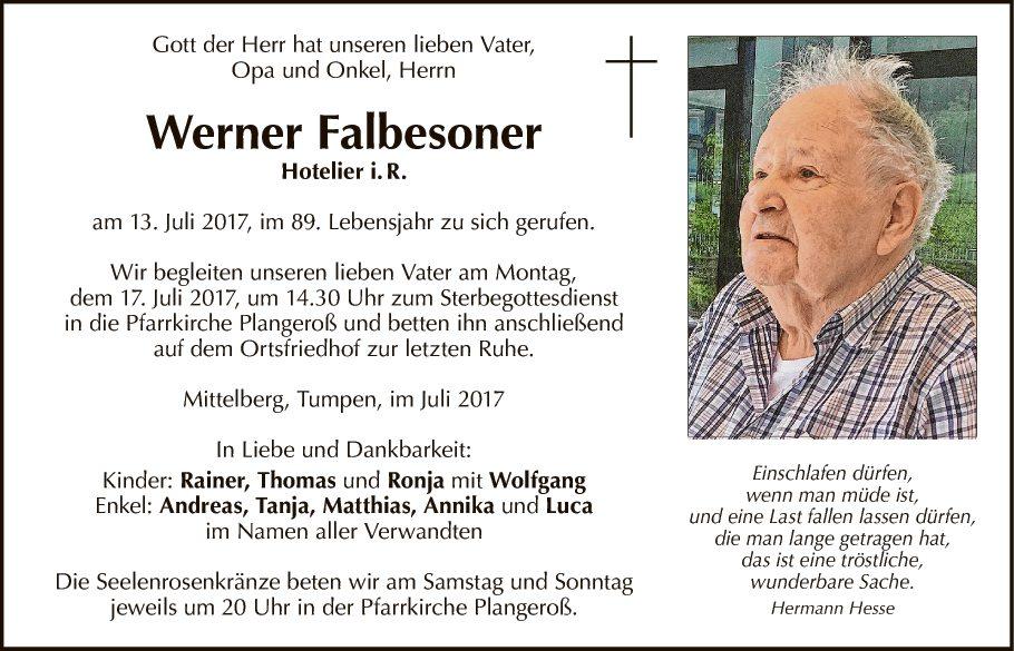 Werner Falbesoner