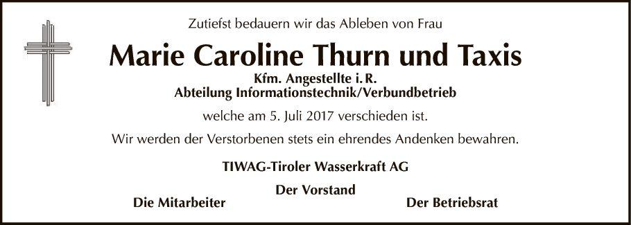 Marie Caroline Thurn und Taxis