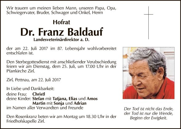 Hofrat Dr. Franz Baldauf