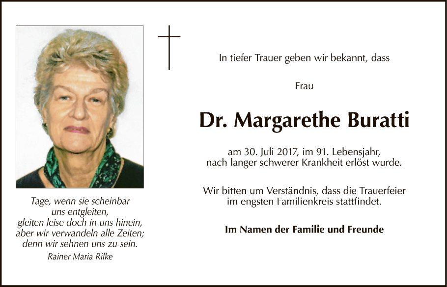 Dr Margarethe Buratti