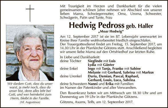Hedwig Pedross