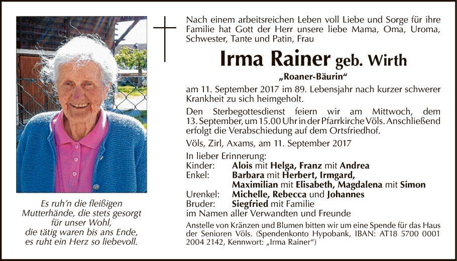 Irma Rainer