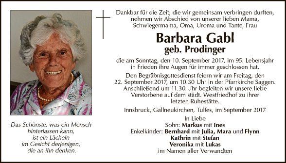 Barbara Gabl