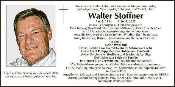 Walter Stoffner