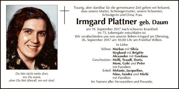 Irmgard Plattner