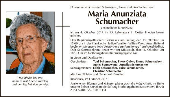 Maria Anunziata Schumacher