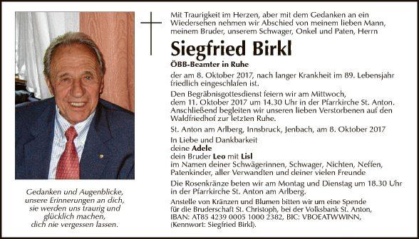 Siegfried Birkl