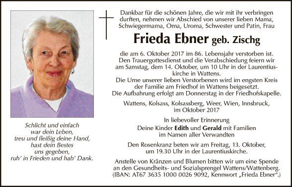 Frieda Ebner