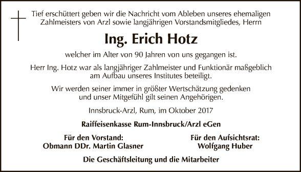 Ing. Erich Hotz