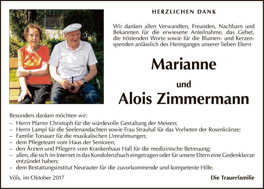 Marianne u. Alois Zimmermann