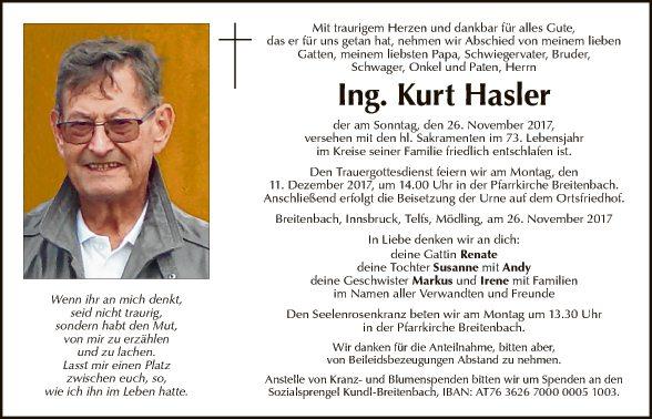 Ing. Kurt Hasler