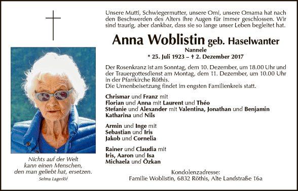 Anna Woblistin