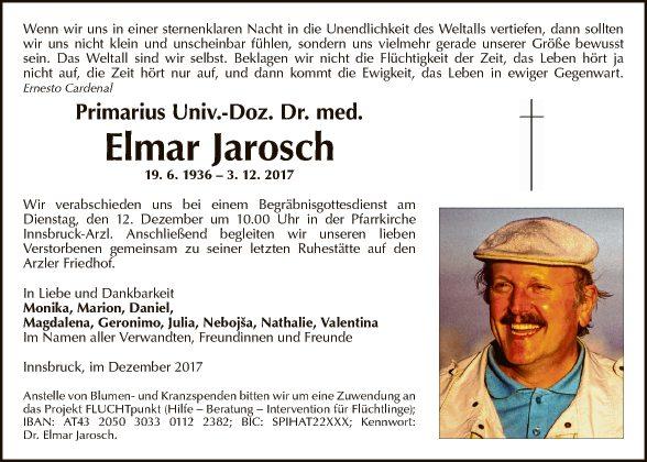 Prim. Univ. Doz. Dr. Elmar Jarosch