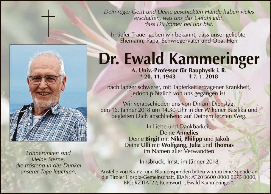 Dr. Ewald Kammeringer