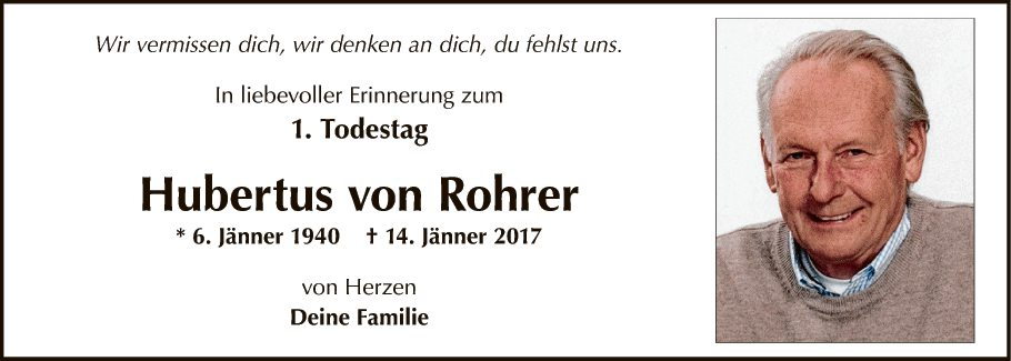 Hubertus von Rohrer