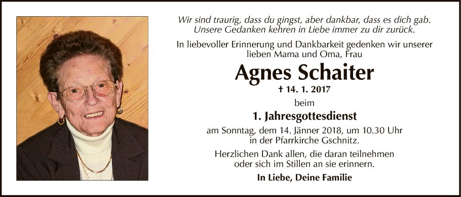 Agnes Schaiter