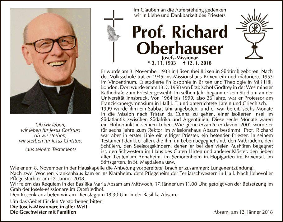 Prof. Richard Oberhauser