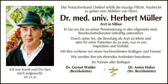 Dr. med. univ. Herbert Müller