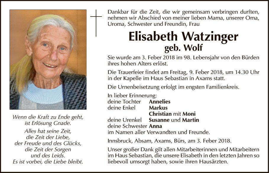 Elisabeth Watzinger