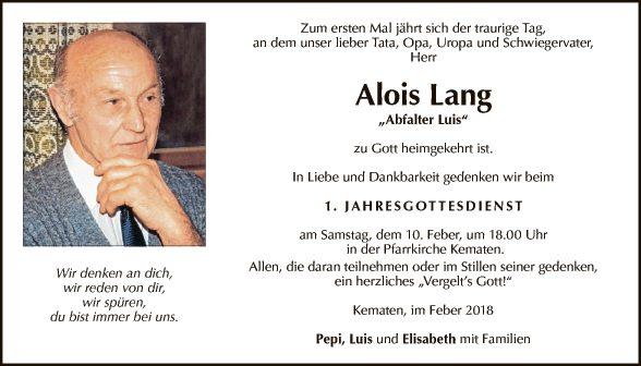 Alois Lang