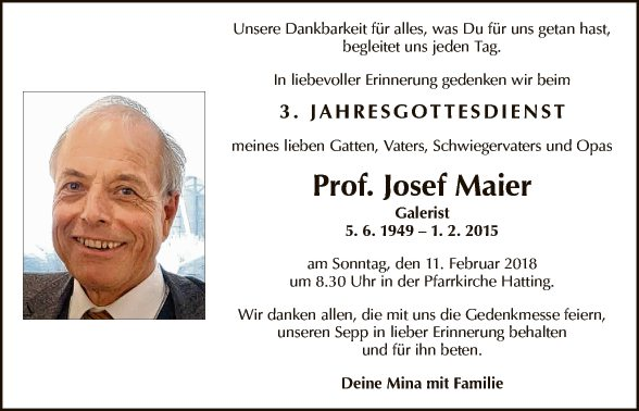 Prof. Josef Maier