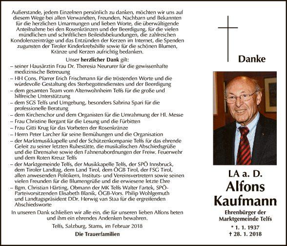 LA a. D. Alfons Kaufman