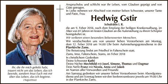 Hedwig Gstir