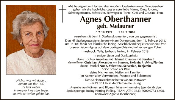Agnes Oberthanner