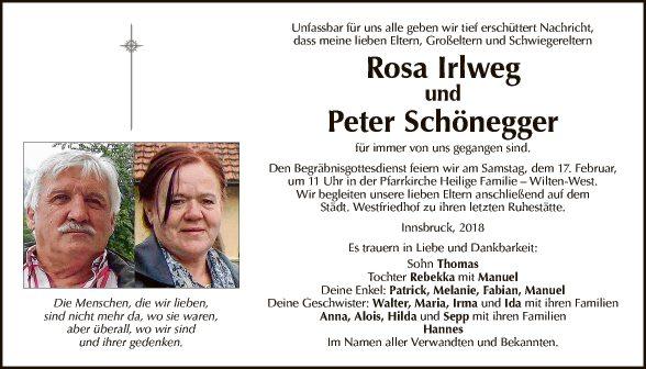 Rosa Irlweg u. Peter Schönegger