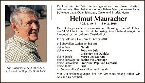 Helmut Mauracher