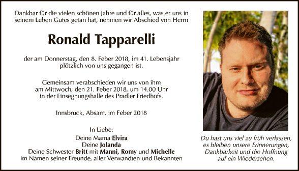 Ronald Tapparelli