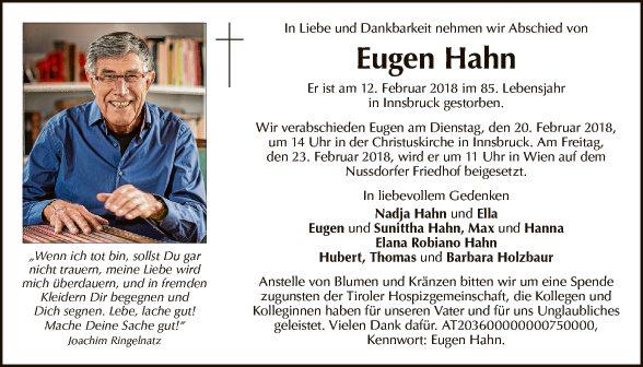 Eugen Hahn