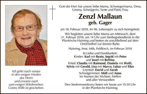 Zenzl Mallaun