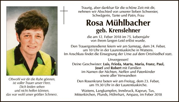 Rosa Mühlbacher