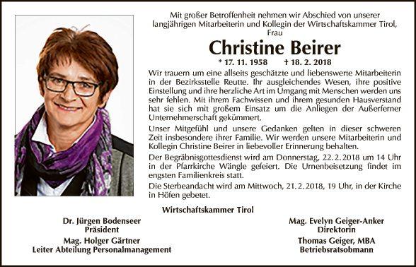 Christine Beirer