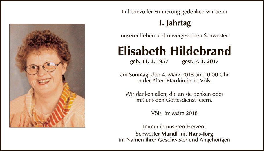 Elisabeth Hildebrand