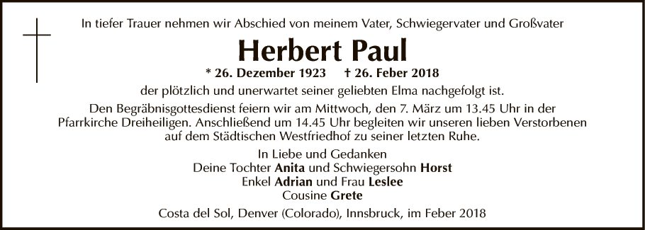 Herbert Paul