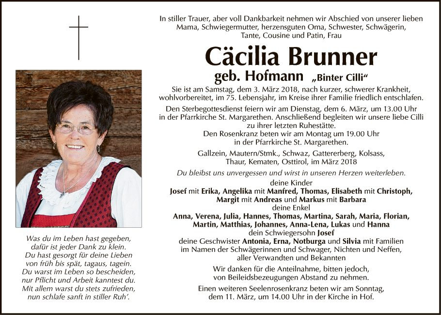 Cäcilia Brunner