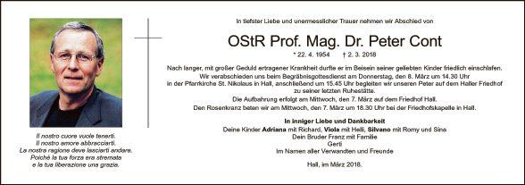 OStR. Prof. Mag. Dr. Peter Cont