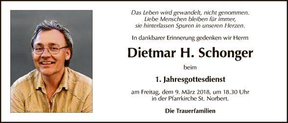 Dietmar H. Schonger