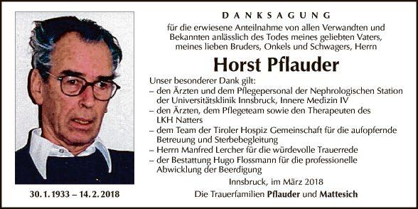 Horst Pflauder