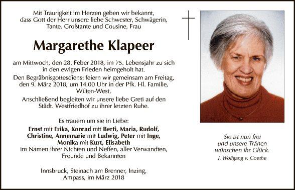 Margarethe Klapeer