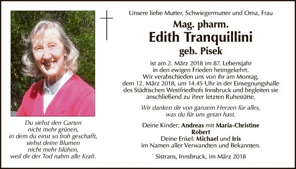 Edith Tranquillini