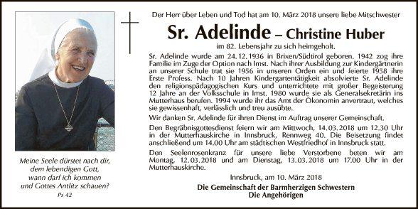 Sr. Adelinde - Christine Huber
