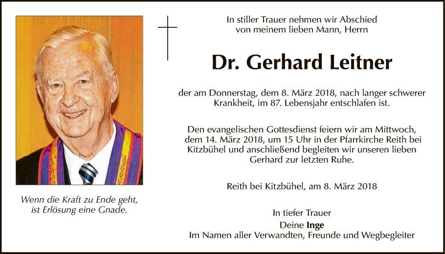 Dr. Gerhard Leitner