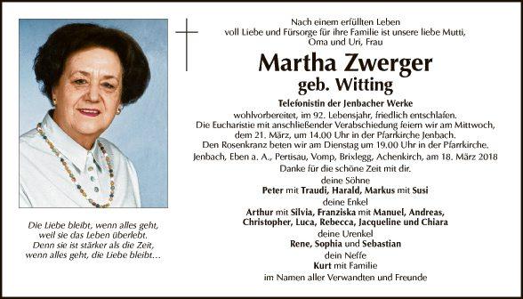 Martha Zwerger